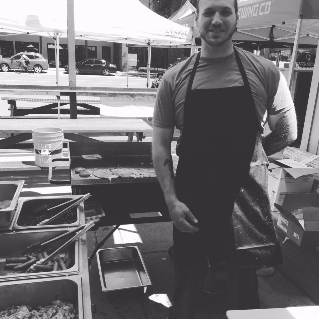 Brandon Becker providing catering services to people in Denver.